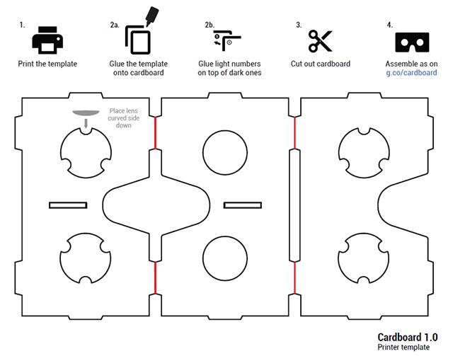 Схема вырезания картона на