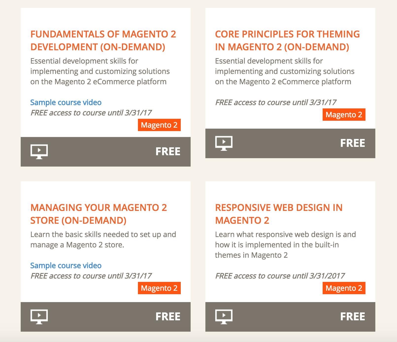 Magento U опубликовало бесплатный курс Fundamentals of Magento 2 Development