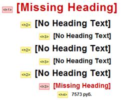 Неправильные h1,h2,h3...