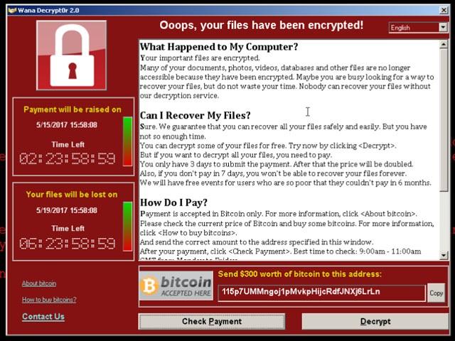 Требование выкупа в WannaCry