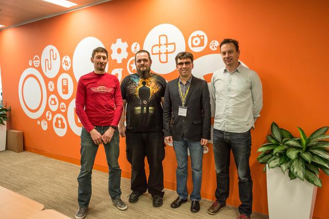 Михайло з колегами з Canonical