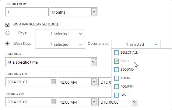 Schedule Particular Week Days on Particular Weeks in a Month