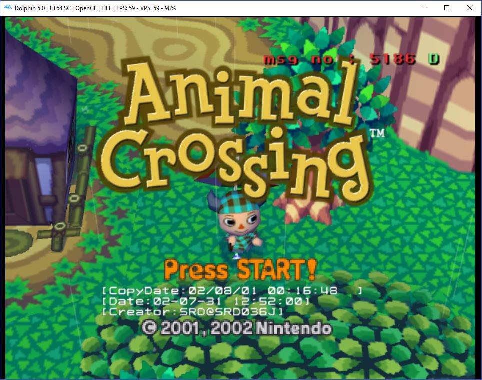 Title screen with zuru mode