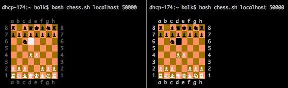 Сетевые шахматы на Bash