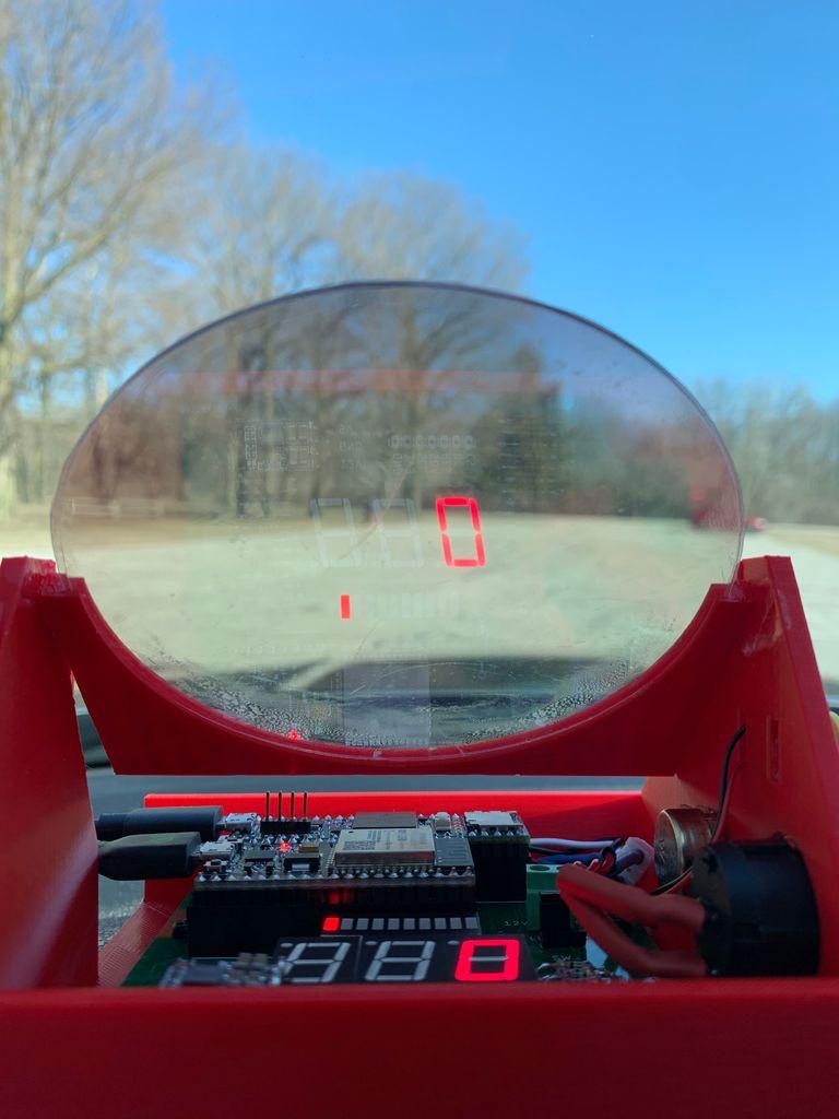 Перевод Индикатор на лобовом стекле для автомобиля на Arduino и ELM327