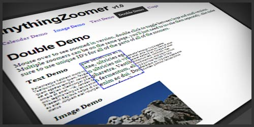 AnythingZoomer – jQuery Plugin to Zoom Anything