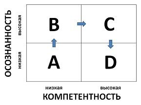 Матрица осознанности и компетентности