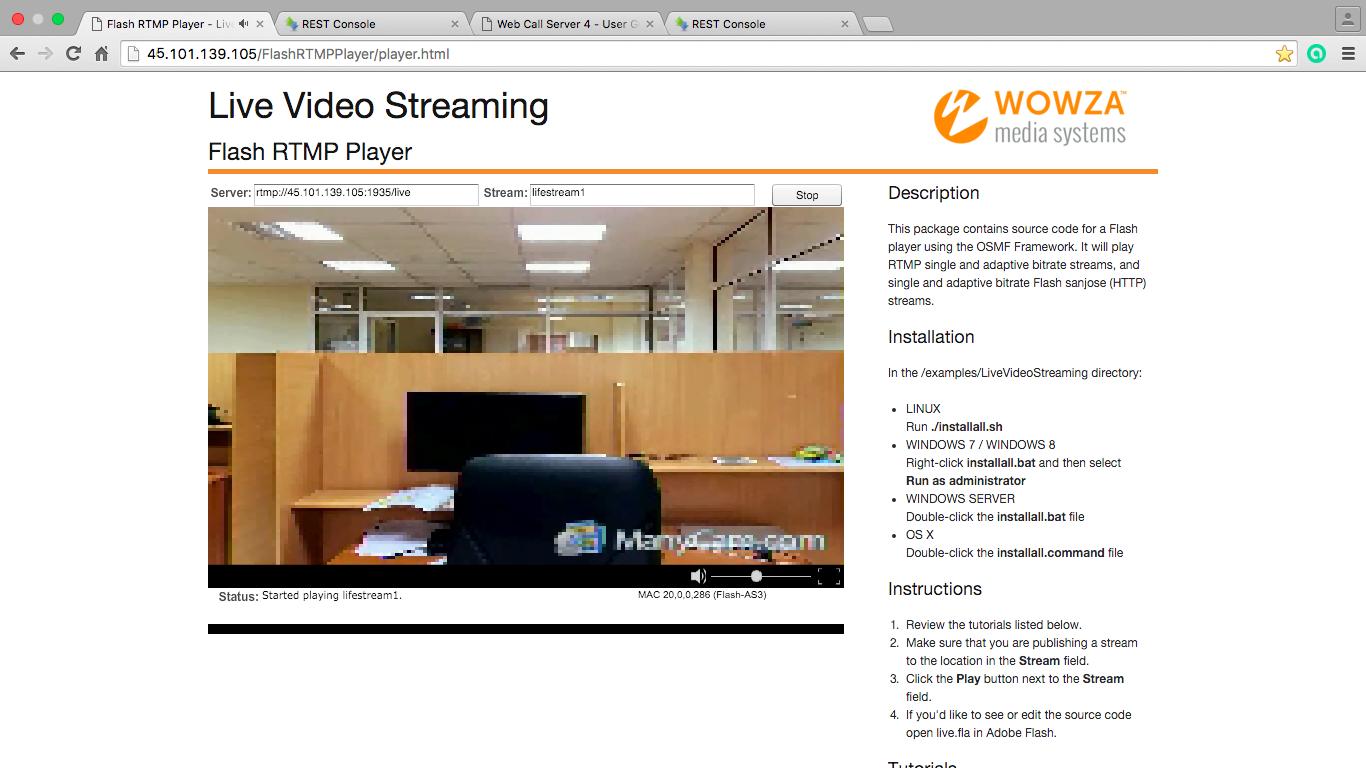 Трансяция з сервісу zoom.us сервера в Adobe Media Server або Wowza Streaming Engine