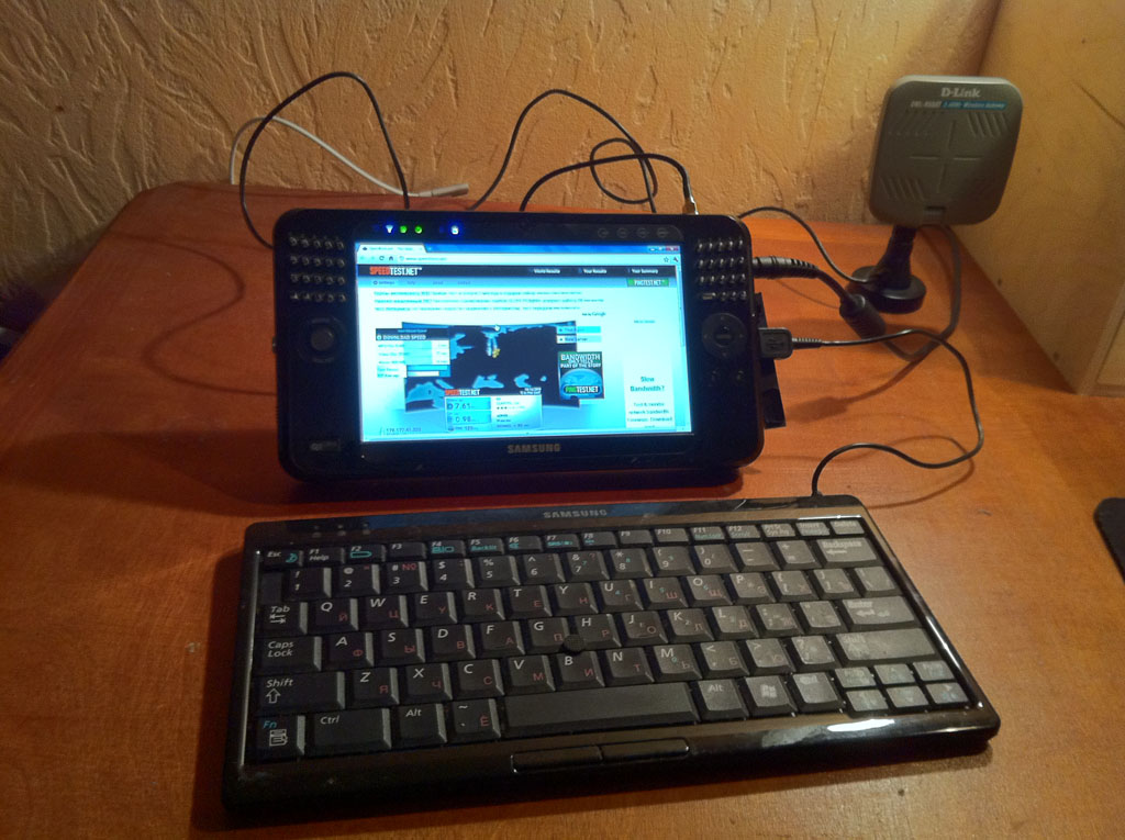 Yota Wimax Зеленоград на Samsung Q1 Ultra