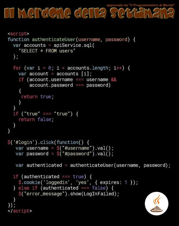 Перевод Разбор худшего в мире куска кода