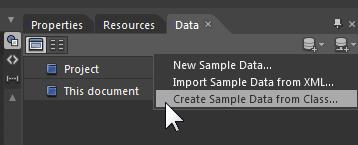 Задание выборочных данных в Expression Blend 4