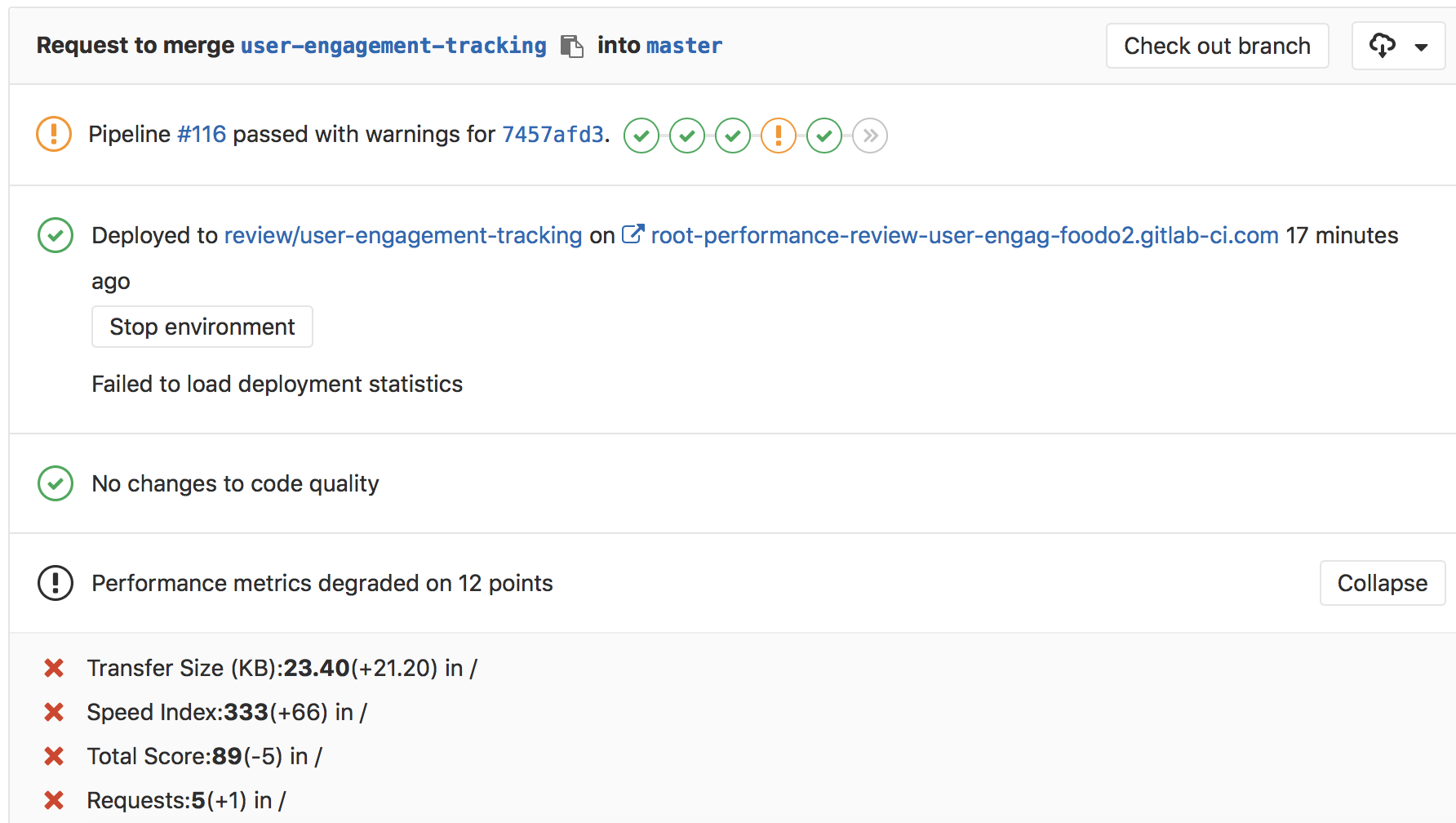 Track additional browser performance metrics