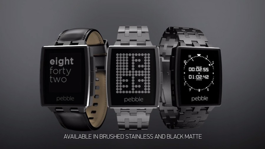 Pebble представили металлические часы