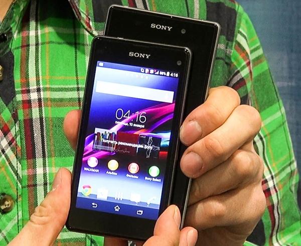 CES 2014: Первый взгляд на мини-флагман Sony Xperia Z1 Compact (+видео)