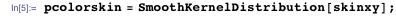 pcolorskin = SmoothKernelDistribution[skinxy];