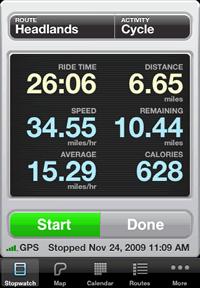 Cyclemeter – GPS трекер для iPhone