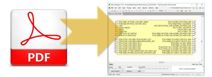 Автоматизированная генерация схемных компонентов из PDF файлов для Altium Designer