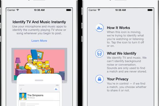 Мобильное приложение Facebook знает, что вы слушаете и смотрите