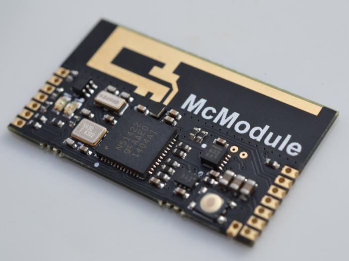 Ein McModule ohne angebrachten Batterieclip (wird mit angebrachtem Clip geliefert)