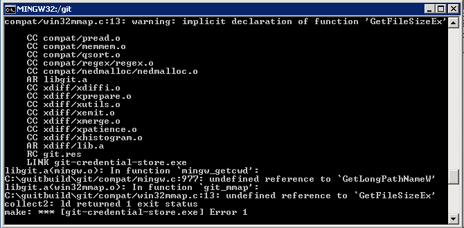 We start Git for Windows under ReactOS