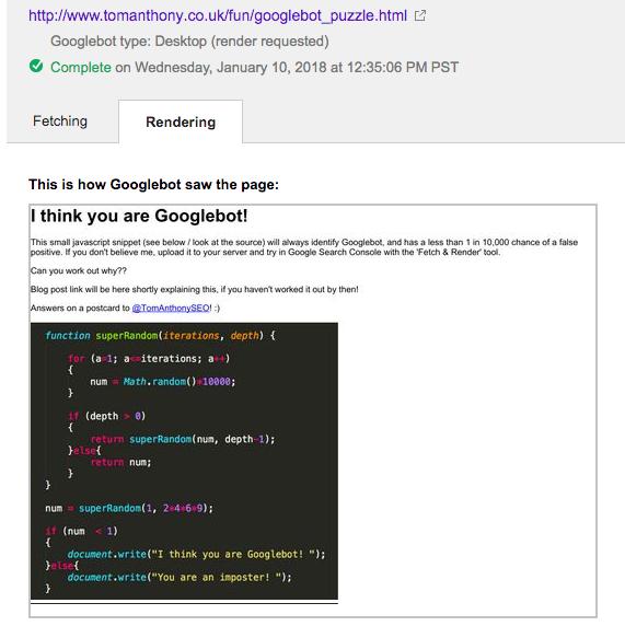 Функция random() у гуглобота работает абсолютно детерминированно