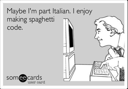 О достоинствах спагетти-методологии