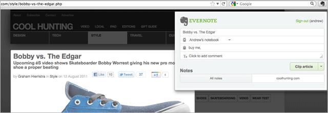 Кардинально переработанное расширение Evernote для Firefox