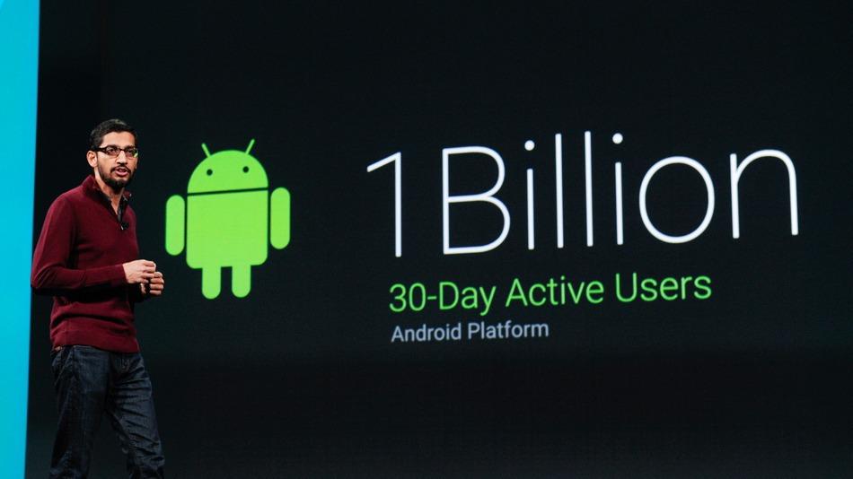 Google отчитался о миллиарде активных юзеров Android