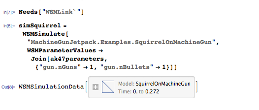 Simulate squirrel on machine gun