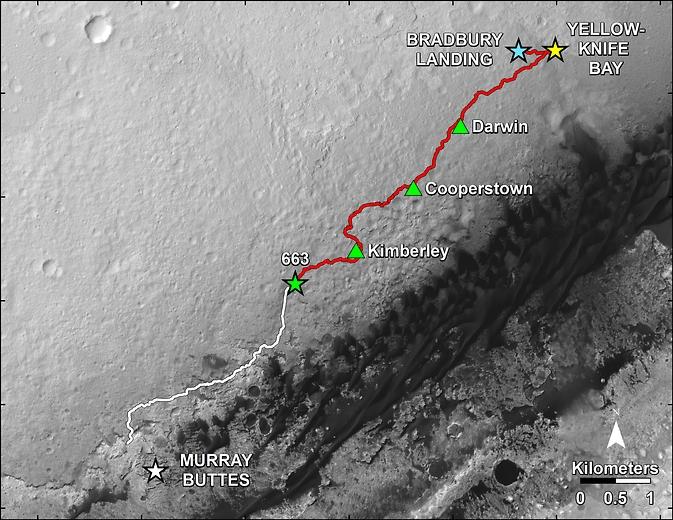 Марсианский юбилей curiosity целый год на