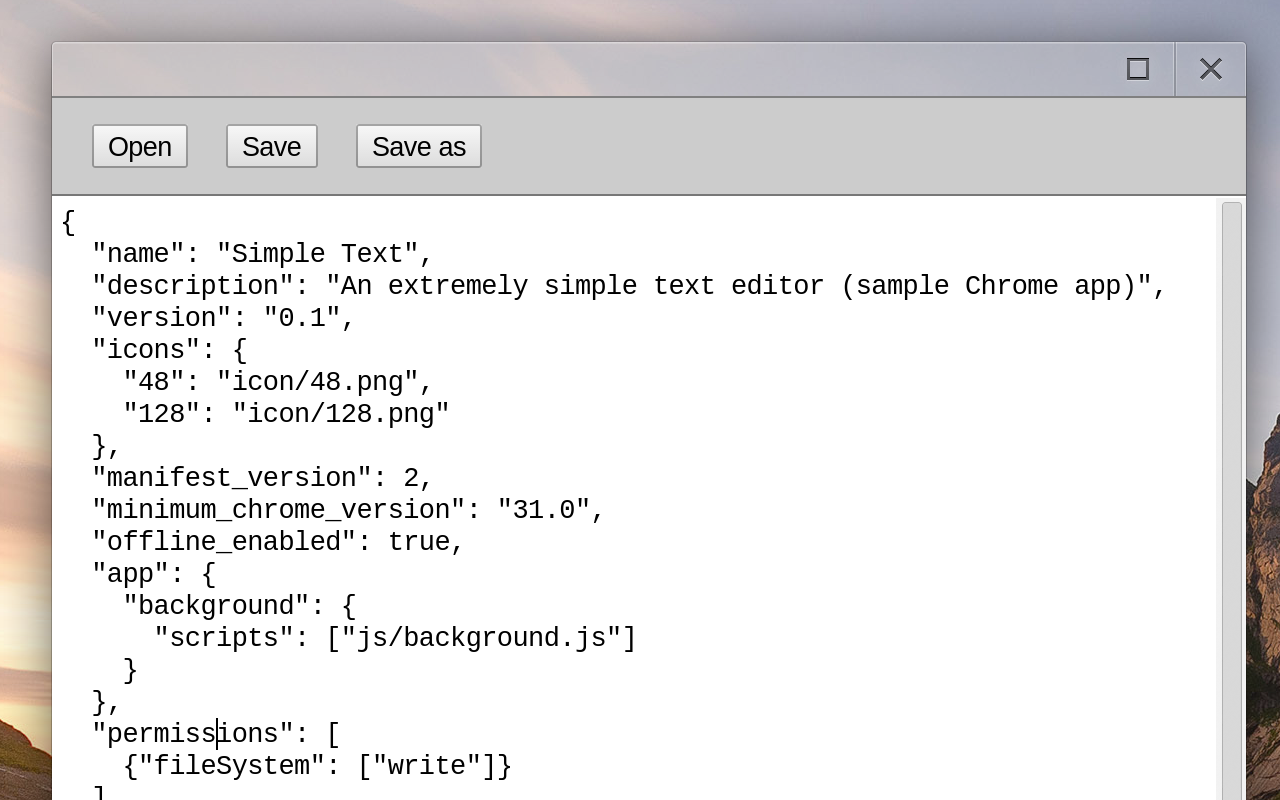 Создание простого Chrome приложения
