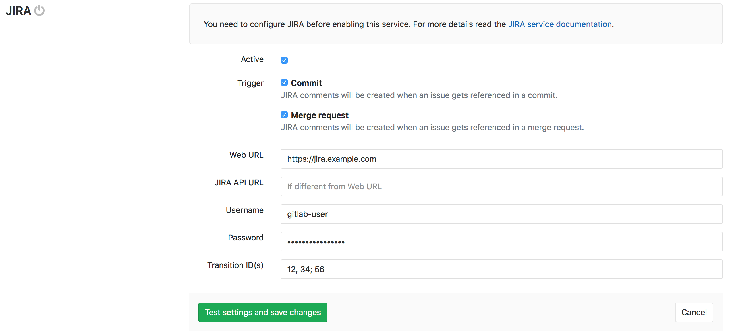 Multiple Jira transition IDs for closing Jira issues from GitLab