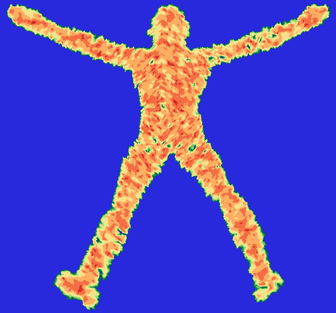 Vitruvian man planet
