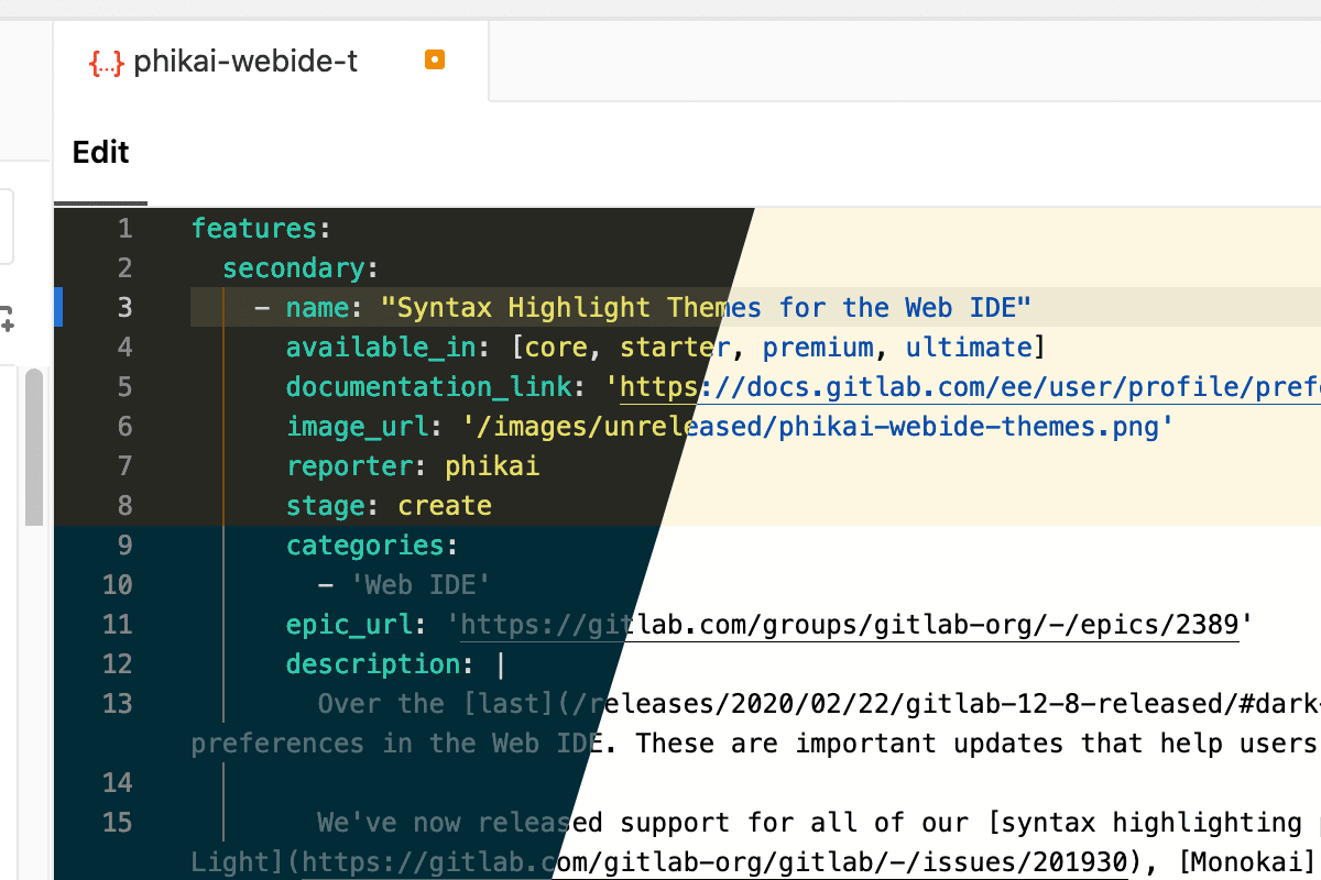 Syntax Highlighting Themes for the Web IDE