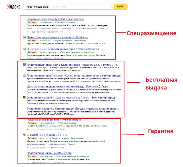 Спецразмещение в яндексе директ контекстная реклама дмитров