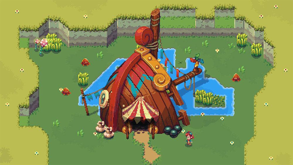 Снимок экрана игры Sparklite
