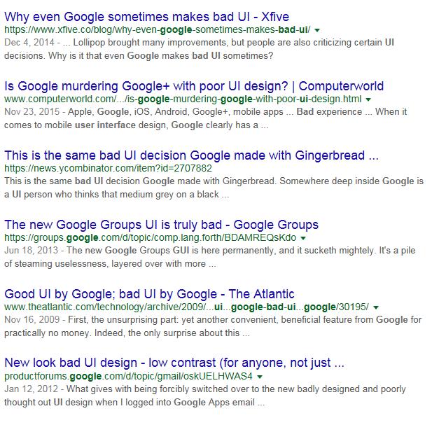 Пошуковий запит поганий інтерфейс Google