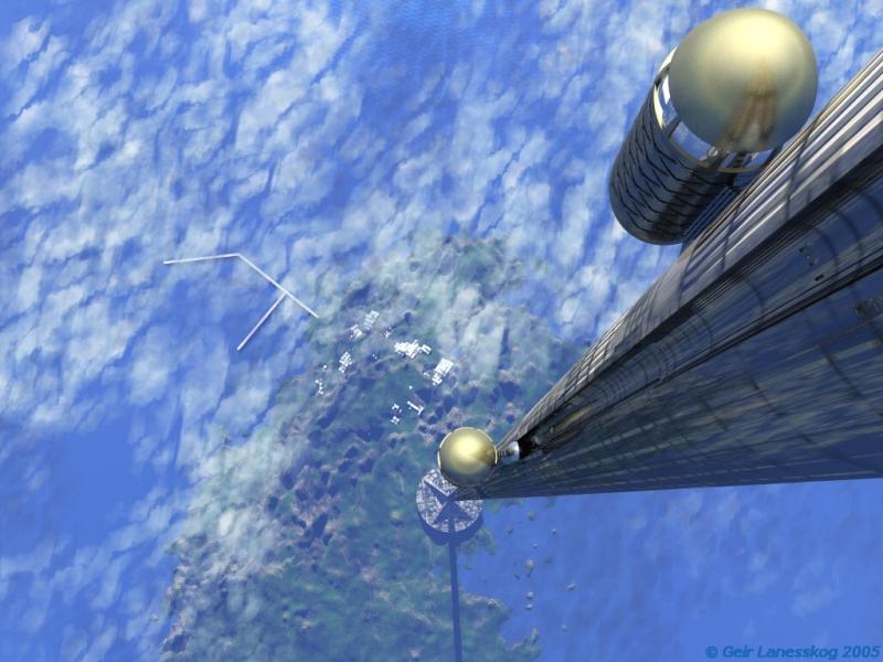 Космический лифт состоит из