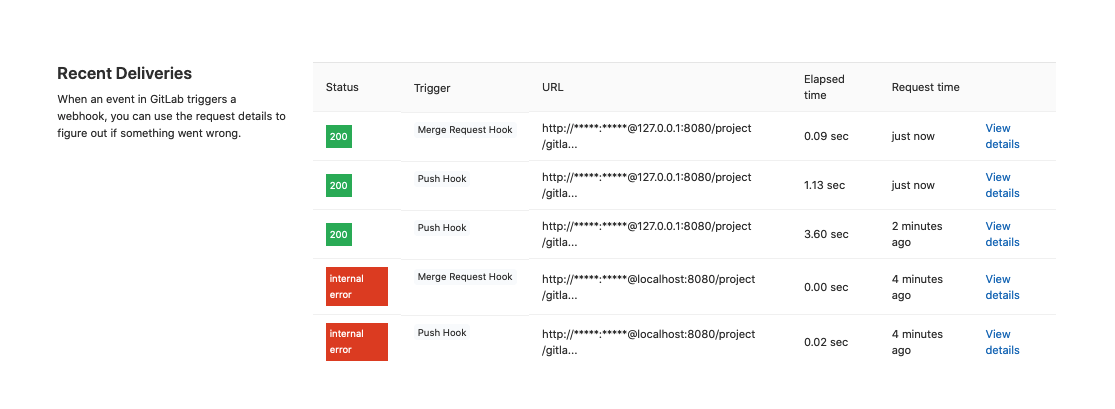 Webhook logs now available for CI integrations