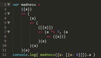 Arrow functions madness