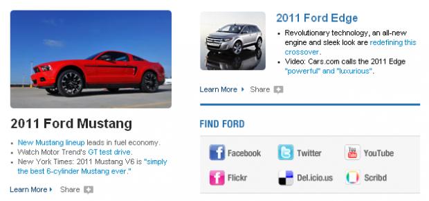 Ford : une zone du site dédiée aux liens sociaux