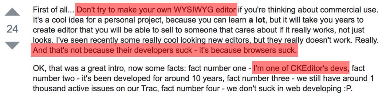 Разработка Rich Text Editor: проблемы и решения / Блог