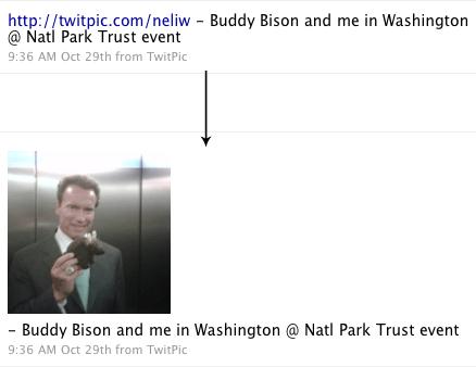 Schwarzenegger: Buddy Bison and me in Washington @ Natl Park Trust event