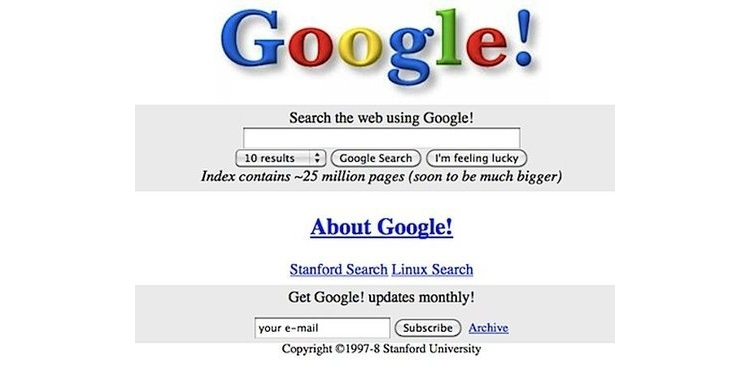 Google turned 20 years old