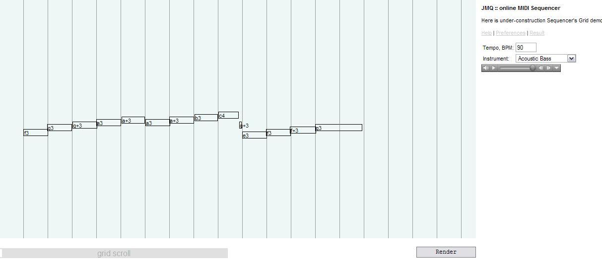 Edge Online MIDI Sequencer screenshot