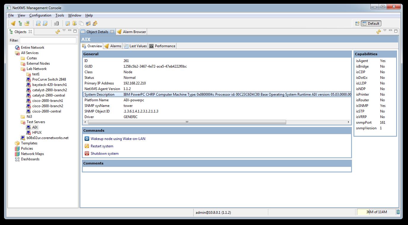 Записи в DNS из NetXMS