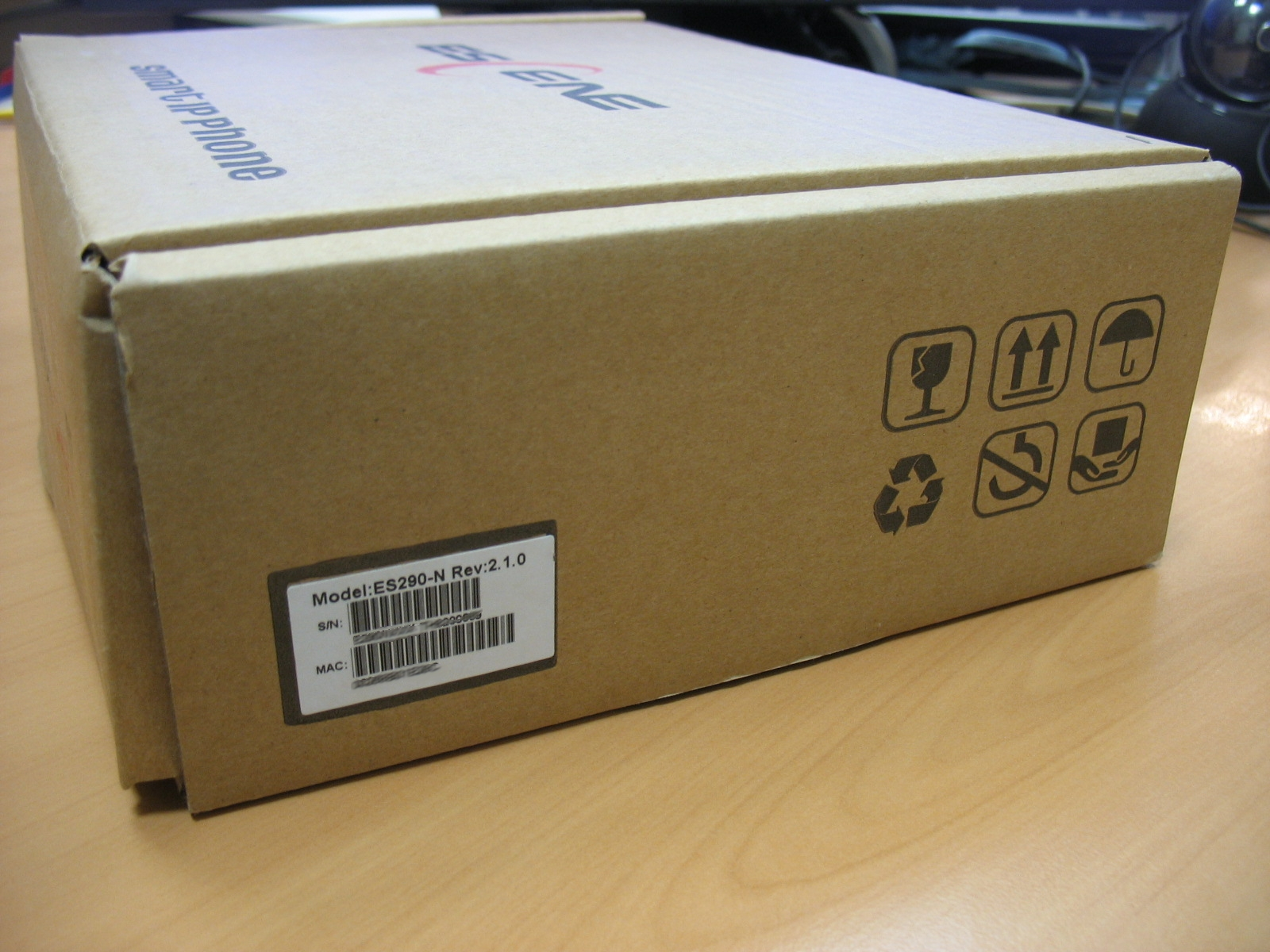 Вид упаковки телефона
