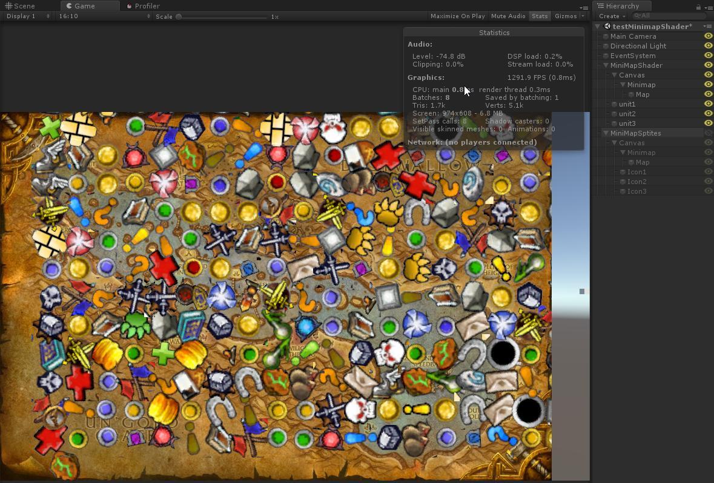 Optimization Unity3d UI by GPU (for example minimap) или создаем миникарту без дополнительных камер и спрайтов