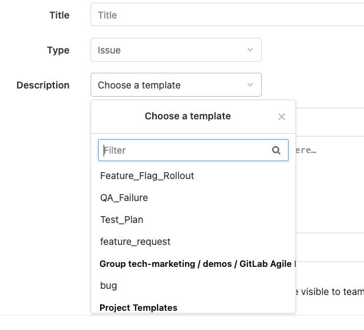 Instance and group description templates for issues and merge requests