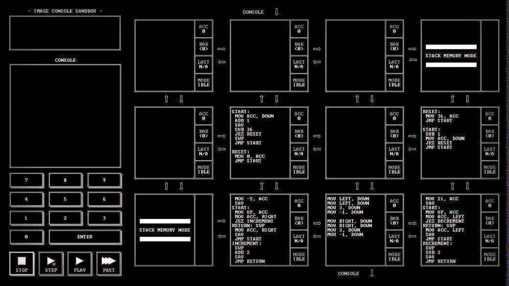TIS-100 — паззл про многопоточный ассемблер, который никто не ждал